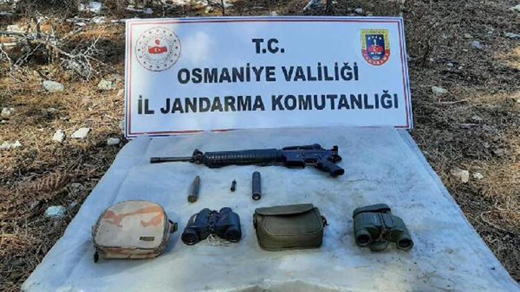 Amanoslarda PKK sığınağında silah ve mühimmat ele geçti