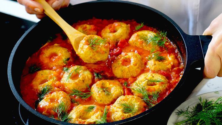 Leziz etsiz vejetaryen köfte: Nohut unlu patlıcanlı köfte