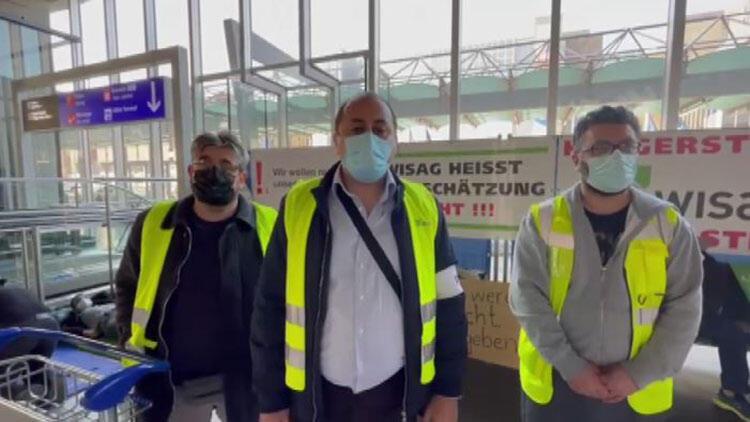 Aralarında Türkler de var! Frankfurt Havalimanı çalışanlarından açlık grevi: 'Koronavirüsü fırsat bildiler, kapı dışına bıraktılar'