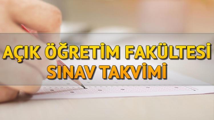 AÖF sınavları ne zaman? 2020-2021 Anadolu Üniversitesi bahar dönemi vize sınav takvimi