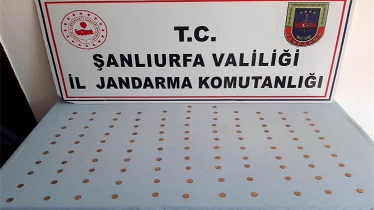 Şanlıurfa'da 110 altın sikke ele geçirildi