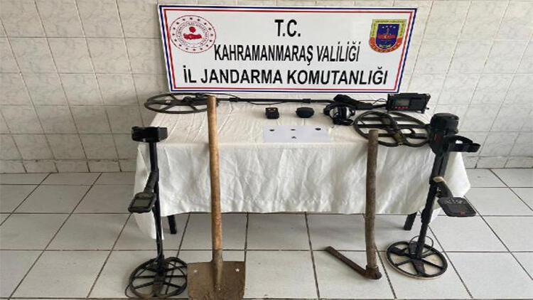 Kahramanmaraş'ta kaçak kazı operasyonu: 4 gözaltı