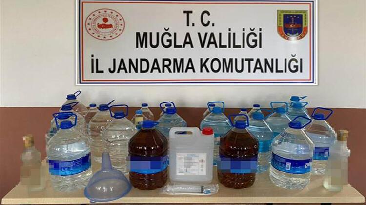 Muğla'da sahte içki operasyonu: 1 gözaltı