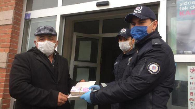 Cebinden düşürdüğü 20 bin liraya polis merkezinde kavuştu