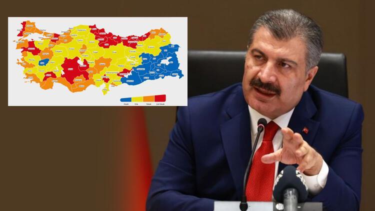 Son dakika haberi: Sağlık Bakanı Fahrettin Koca haritayı paylaştı ve uyardı