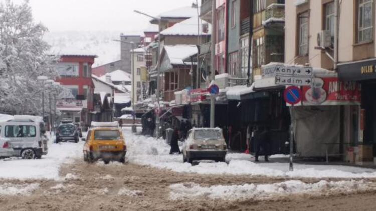 Konya'nın 6 ilçesinde yüz yüze eğitime kar engeli