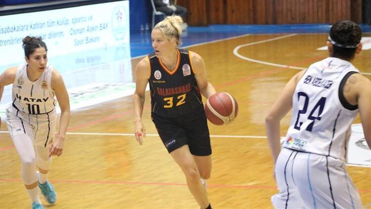 Kadınlar Basketbol Süper Ligi: Hatay Büyükşehir Belediyespor 63-74 Galatasaray
