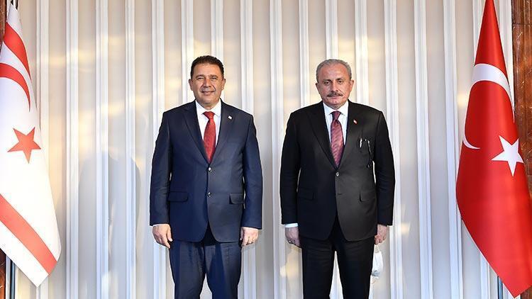 TBMM Başkanı Şentop ile KKTC Başbakanı Saner bir araya geldi