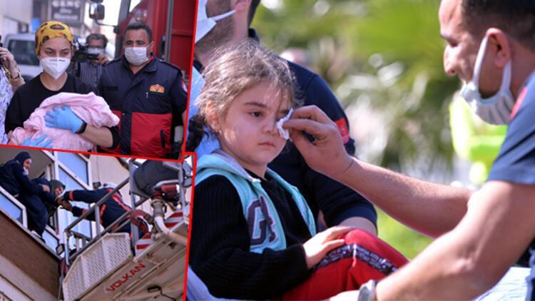 Mersin'deki yangında biri bebek 7 kişi kurtarıldı! Azra ağlayarak annesini sordu