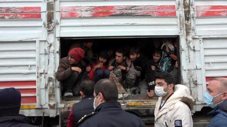 Balık istifi 114 kaçak göçmen taşınan TIR'ın sürücüsü sorguda