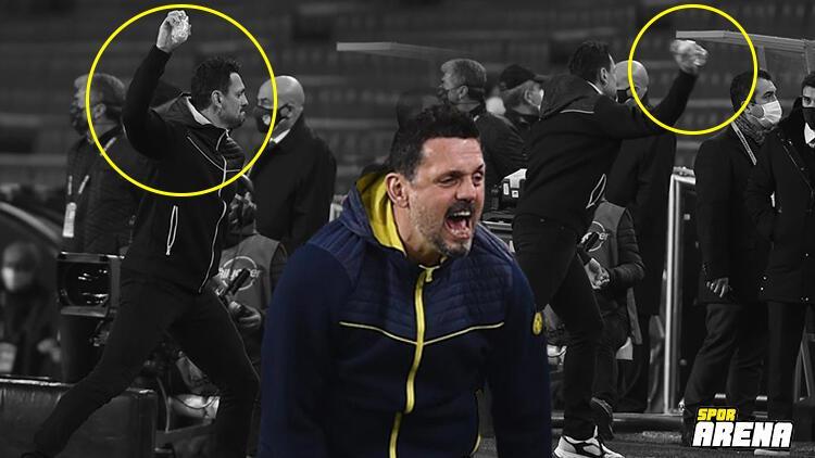 Fenerbahçe'de Erol Bulut kenarda çılgına döndü! Hiç böyle görmediniz...