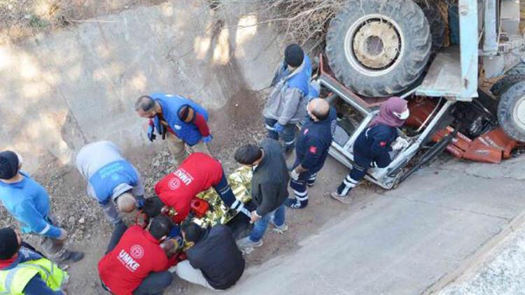 Traktörle düştüğü sulama kanalından UMKE ve AFAD ekipleri kurtardı