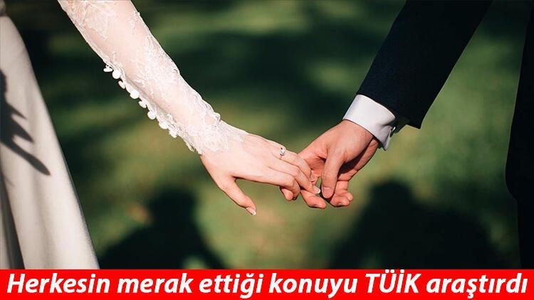 TÜİK açıkladı! Türkiye'nin evlenme yaşı belli oldu