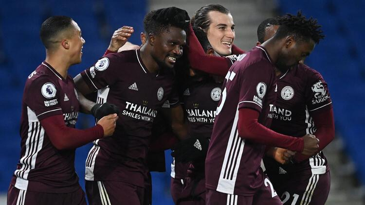 Leicester City, deplasmanda Brighton and Hove Albion'u 2 golle geçti