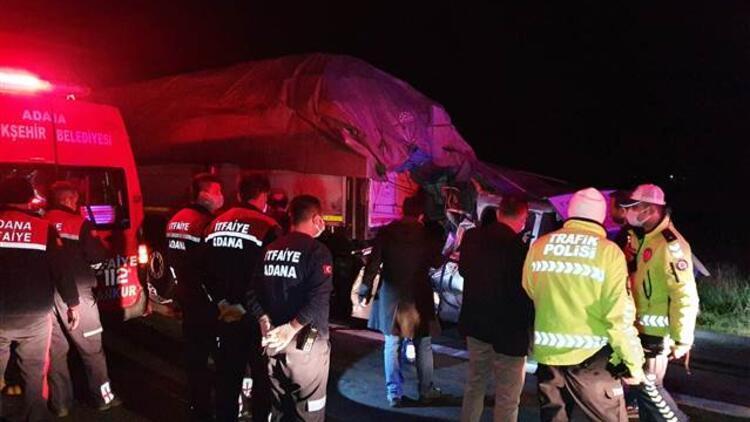 Adana'da korkunç kaza! 3 ölü