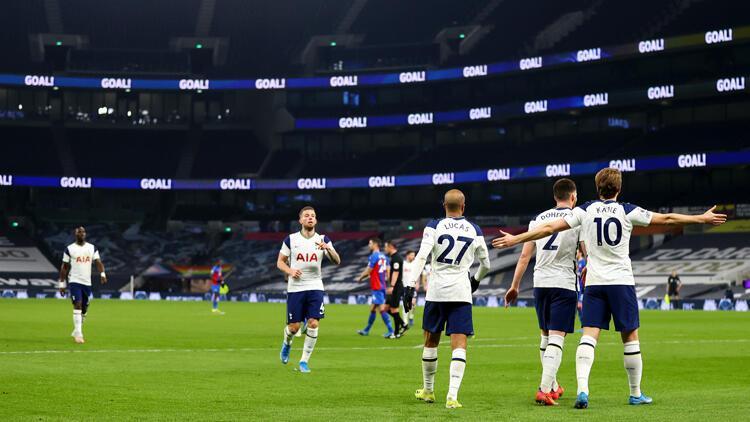 İngiltere Premier Lig'de Tottenham, sahasında Crystal Palace'ı farklı yendi