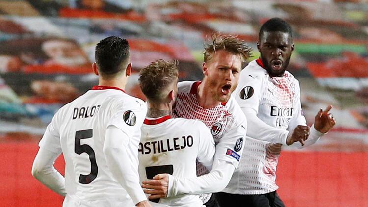 Milan, UEFA Avrupa Ligi'nde avantajı Kjaer ile kaptı! Manchester United...