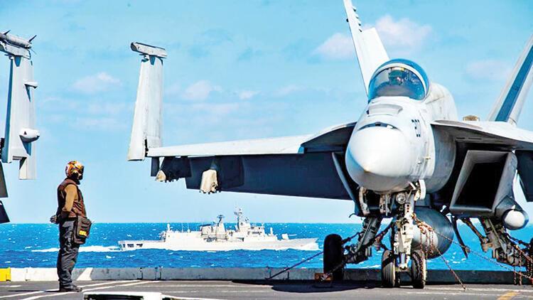 Amerikan uçak gemisi Yunanistan ile tatbikat yapıyor