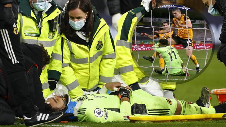 Wolverhampton - Liverpool maçında yürekler ağza geldi! Rui Patricio baygınlık geçirdi...