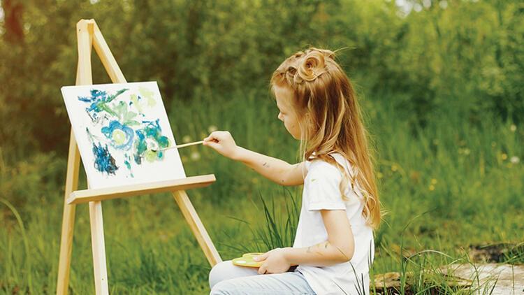 Küçük ressamlar yarışıyor