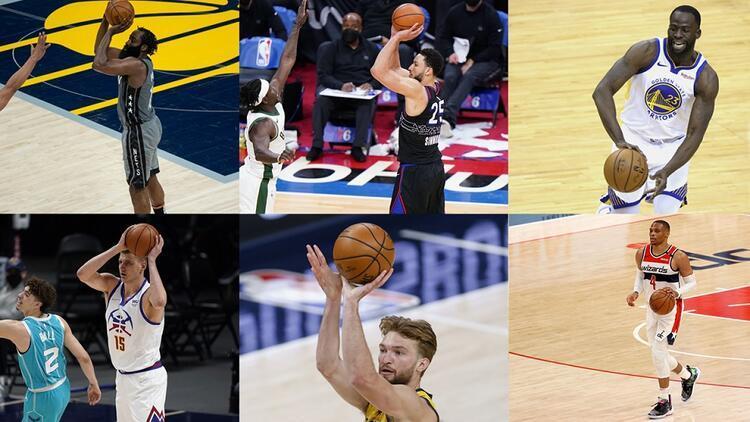 """NBA'de Gecenin Sonuçları: Tarihi gün, altı """"triple-double"""" birden"""