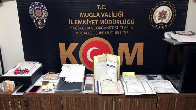 Muğla'da tefeci çetesine operasyon! 100'den fazla tapu ele geçirildi