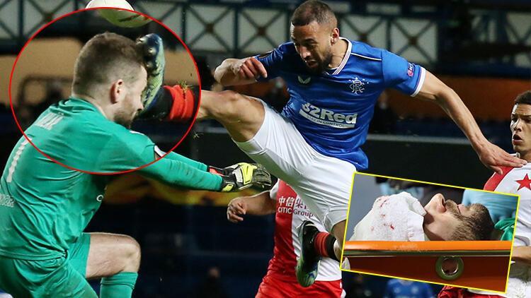 UEFA Avrupa Ligi'nde geceye damga vuran an! Rangerslı oyuncunun hareketi ve kırmızı kart...
