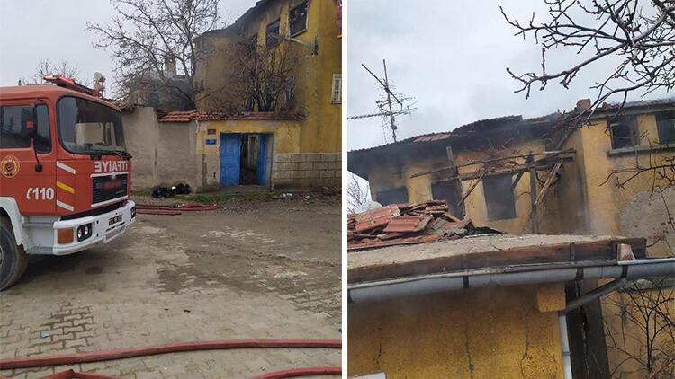 Yaşlı kadın yalnız yaşadığı evinde çıkan yangında hayatını kaybetti