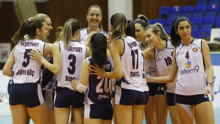 Son dakika: Sistem9 Yeşilyurt Kadın Voleybol Takımı, CEV Challenge Kupası'nda şampiyon