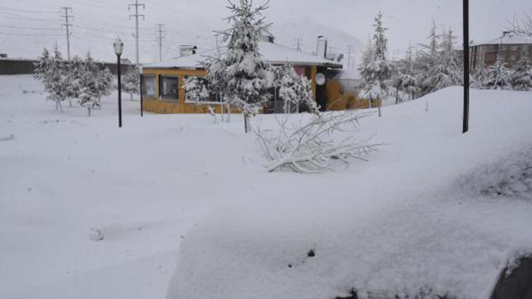 Bitlis'te 47 köy yolu, kardan kapandı