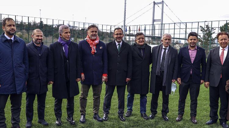 Yenilenen Beylerbeyi Stadı, Bakan Kasapoğlu'nun katılımıyla açıldı