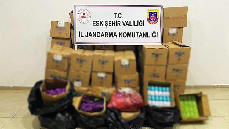 Eskişehir'de 242 kilo kaçak et ve binlerce sahte dezenfektan ele geçirildi