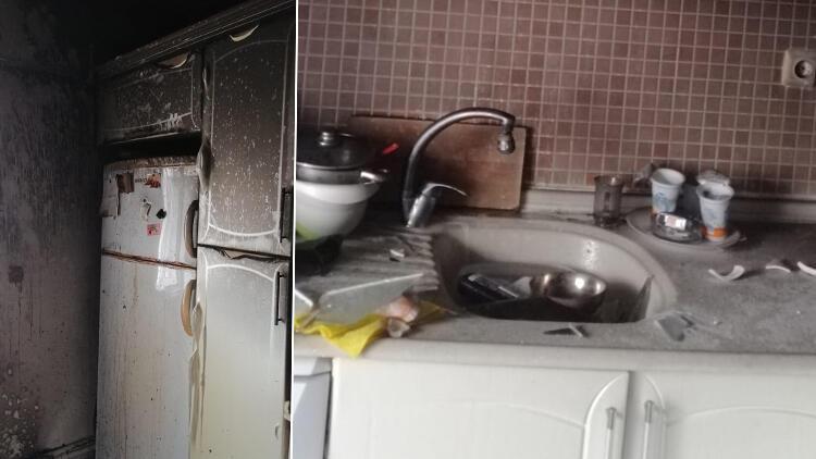 Samsun'da kıyafetlerini ateşe verince evi yaktı