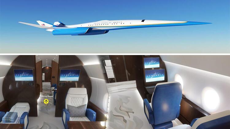 Görüntüleri nefes kesti... ABD Başkanı'na özel süpersonik uçak!