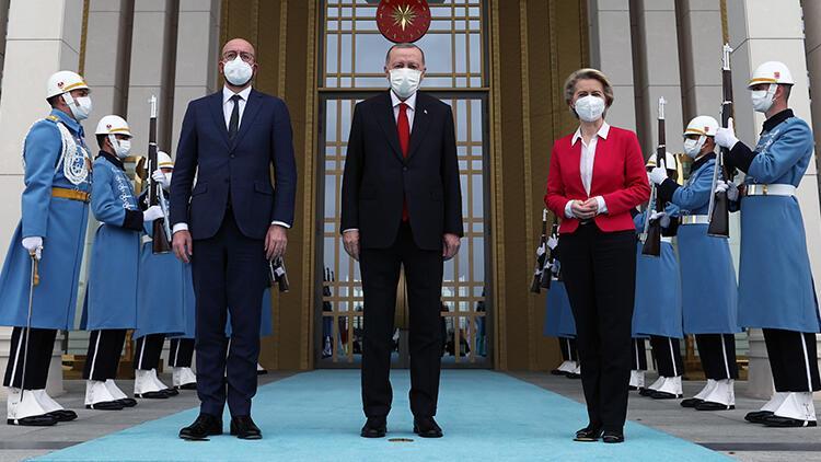 Cumhurbaşkanı Recep Tayyip Erdoğan, AB heyeti ile görüştü.