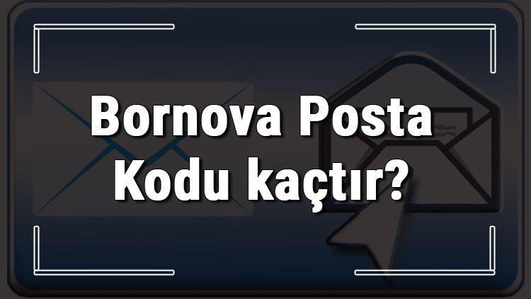 Bornova Posta Kodu kaçtır? İzmir'in ilçesi Bornova'nın ve mahallelerinin Posta Kodları