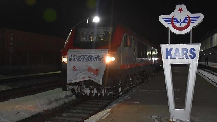 Çin'e ikinci bor madeni yüklü tren yola çıktı