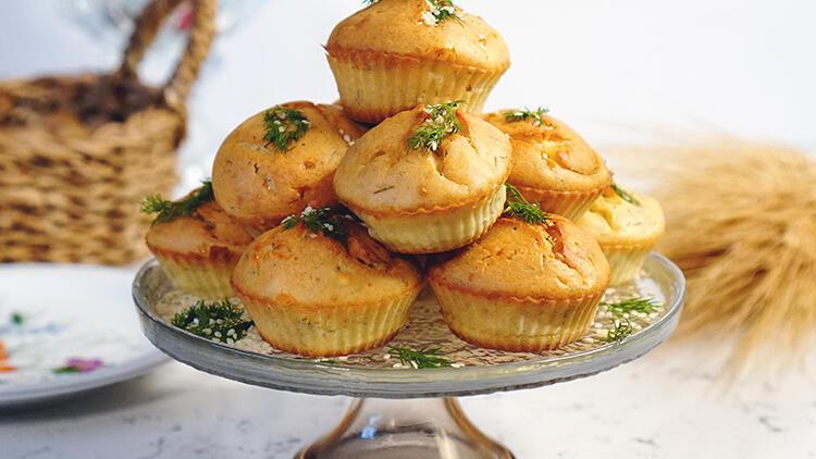 Tadı tuzu yerinde: Dereotlu peynirli tuzlu muffin