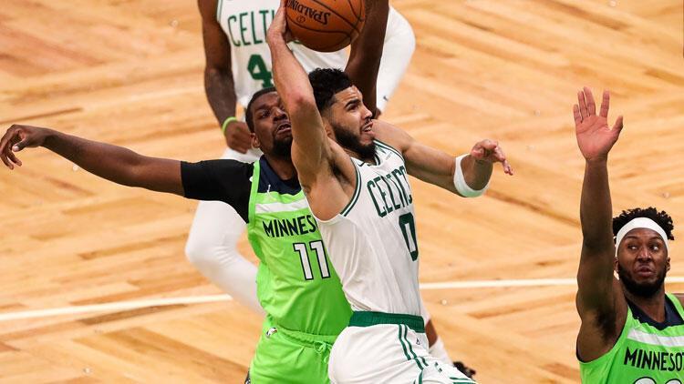 NBA'de gecenin sonuçları: Jayson Tatum'un 53 sayı attığı maçta Celtics, Timberwolves'i uzatmada geçti