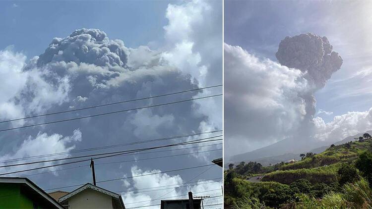 La Soufriere Yanardağı ikinci kez patladı, yeni patlamalar için uyarı yaptılar