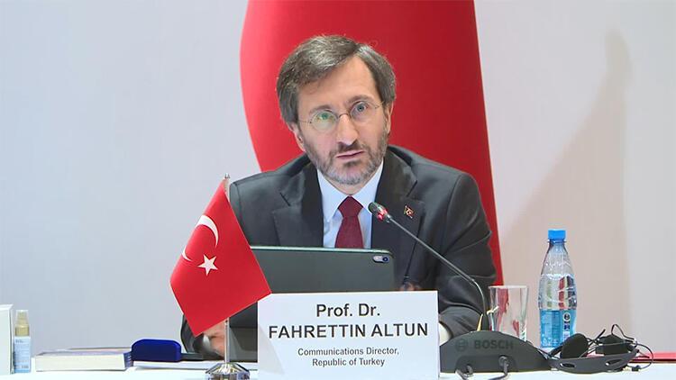 Cumhurbaşkanlığı İletişim Başkanı Fahrettin Altun, Türk Konseyi Toplantısı için Bakü'de
