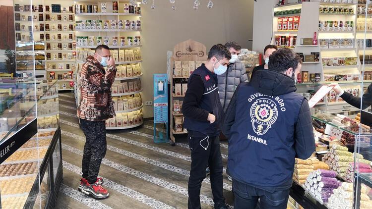 Fatih'te polis ekipleri denetim yaptı