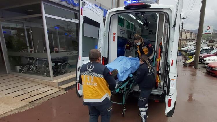 Tersanede iskeleden düşen işçi yaralandı