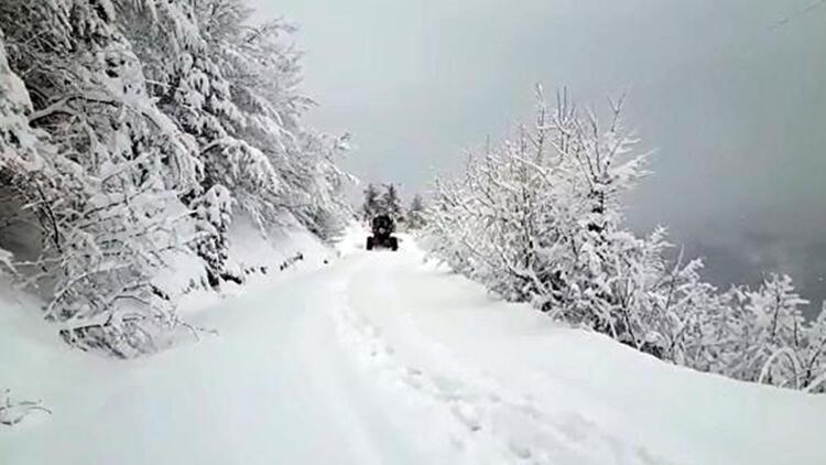 Düzce'de 24 köy yolu, kardan kapandı