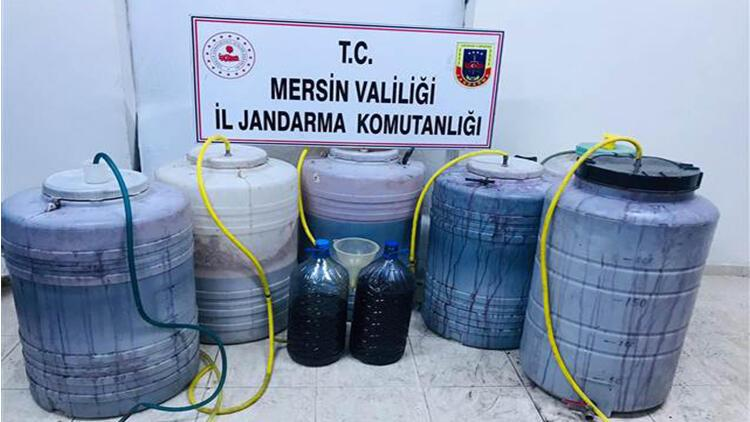 Mersin'de 1184 litre sahte içki ele geçirildi