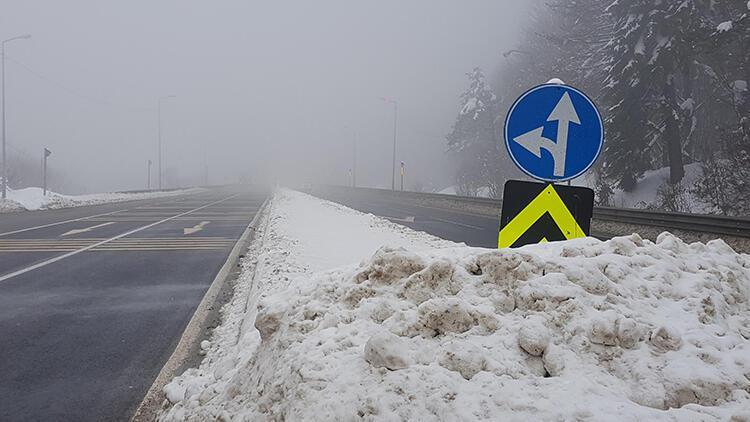 Bolu Dağı'nda yoğun sis etkili oldu