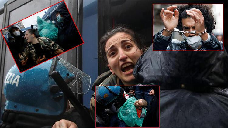 Son dakika haberler... İtalya'nın başkentinde büyük protesto: 'Özgürlük özgürlük' diye bağırdılar!