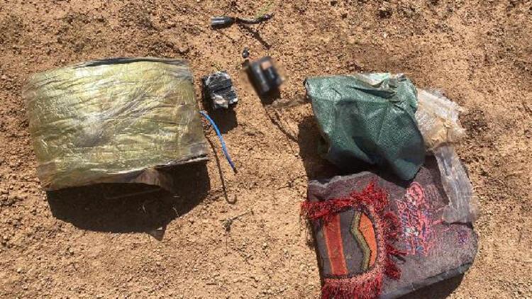 Tel Abyad'da, 30 kilo patlayıcı ele geçirildi