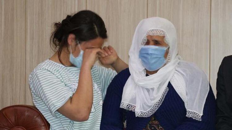 İkna edilerek teslim olan kadın PKK'lı, ailesine kavuştu