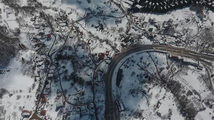 Bolu Dağı'nda kar güzel görüntüler oluşturdu